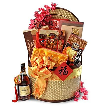 Oriental Food Hamper Basket:Send Chinese New Year Gifts to Malaysia