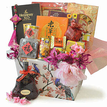 Wealth Abundance Chinese Hamper:Anniversary Gifts Delivery to Malaysia