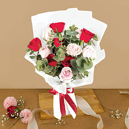 Lovely Mixed Roses Bouquet:Send Birthday Flowers To Malaysia