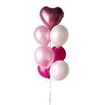 Personalised Foil Heart Balloon And Mixed Latex Balloons:Balloon Decorations Malaysia
