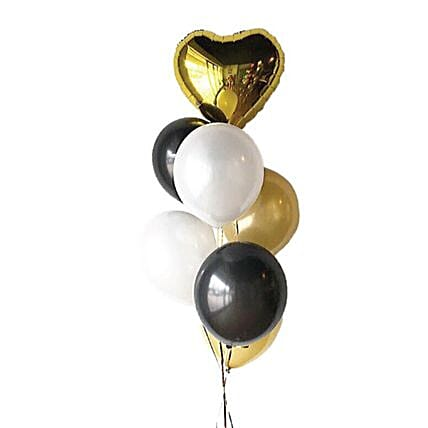 Personalised Heart Foil Balloon And 6 Latex Balloons:Balloon Decorations Malaysia