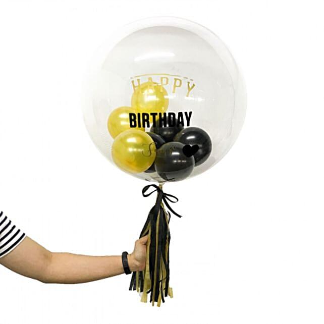 Personalised Mini Balloons Stuffed Bubble Balloon:Balloon Decorations Malaysia