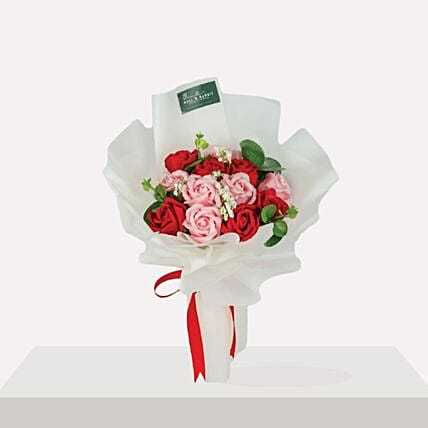 Vibrant Mixed Roses Beautifully Tied Bouquet