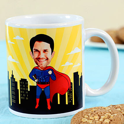 Super Hero Personalised Mug For Dad:Send Personalised Gifts to Malaysia
