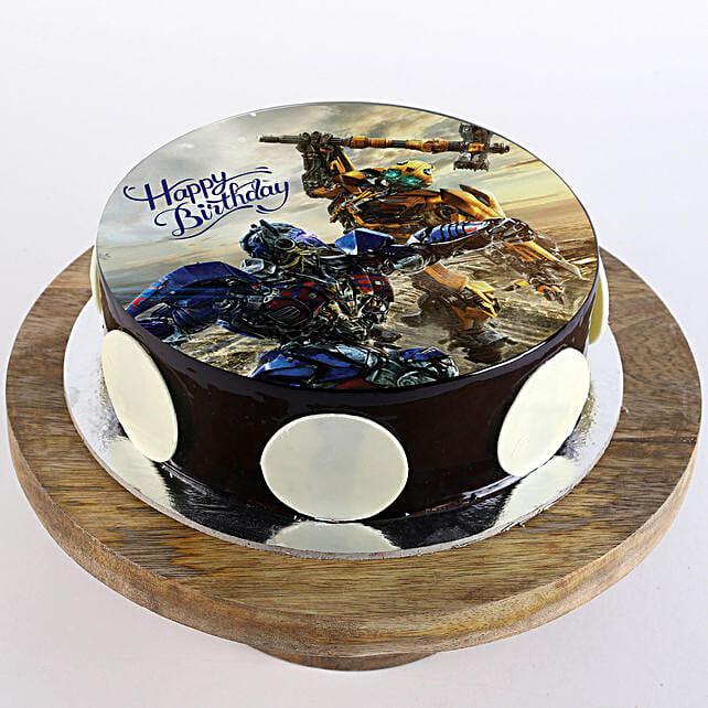 Transformers Chocolate Photo Cake