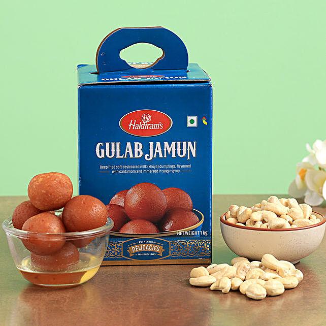 Haldirams Gulab Jamun And Cashews Combo:Send Diwali Gifts to Malaysia