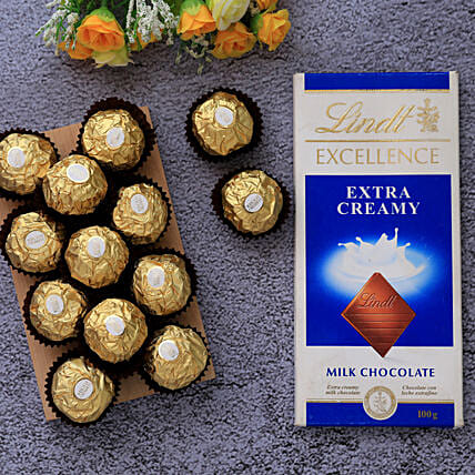 Lindt Excellence And Ferrero Rocher Chocolate Combo:Diwali Gifts Malaysia