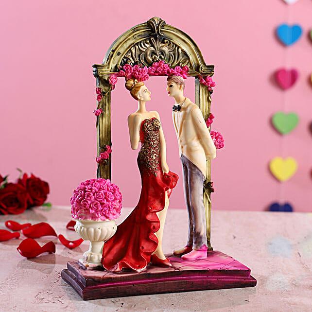 Beautiful Couple In Frame Figurine