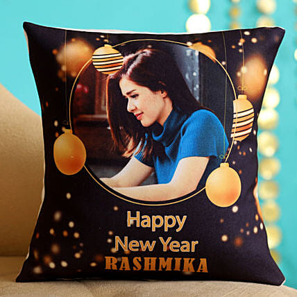Personalised Happy New Year Cushion Hand Delivery:Send New Year Gifts to New Zealand