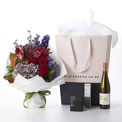 Precious Flower N Wine Gift Hamper