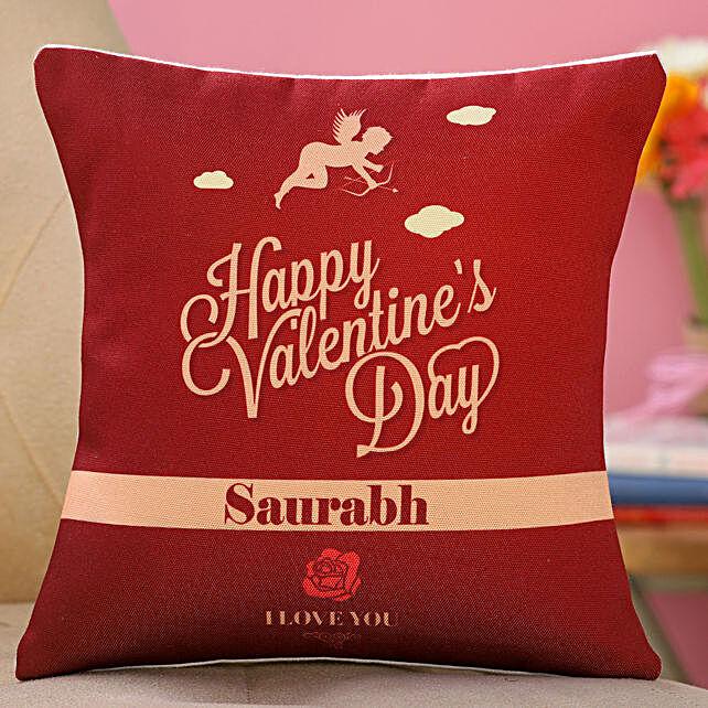 valentine day printed cushion online