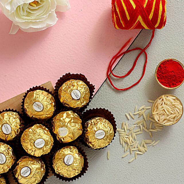 Bhai Dooj Wishes Ferrero Rocher Combo