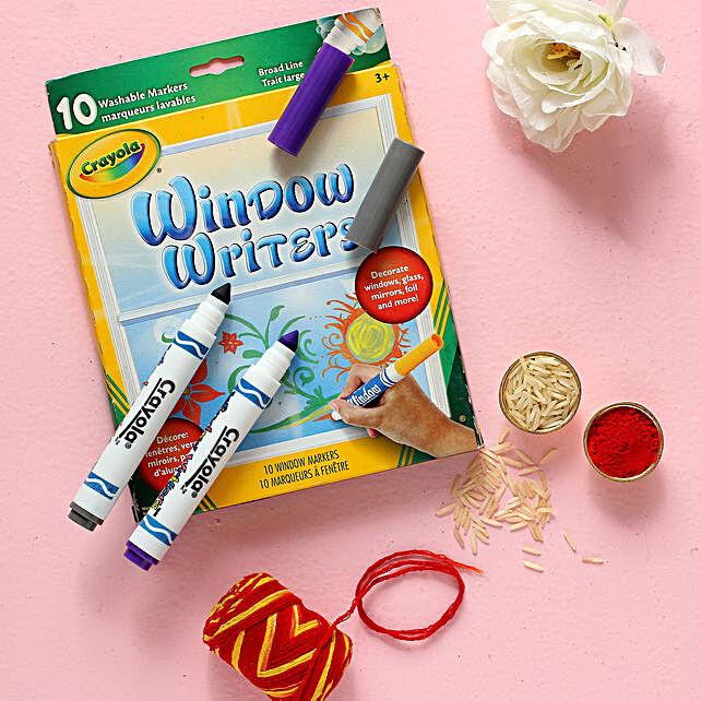 Bhai Dooj Best Wishes Crayola Window Writers Combo
