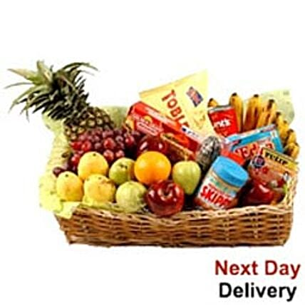 Food Hamper With Fruits-nwy
