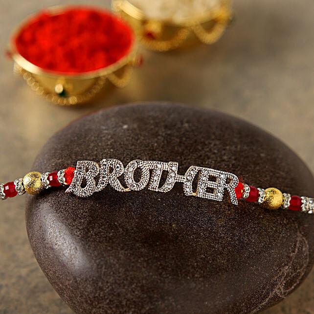 Glittered Brother Rakhi