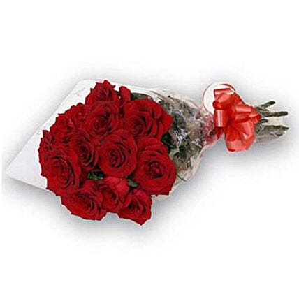 Bunch of 12 Red Roses OM