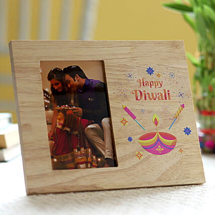 Diwali printed in photo frame for family