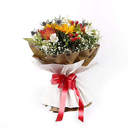 Bouquet Of Hope And Positivity:Thank You Gift Delivery in Oman
