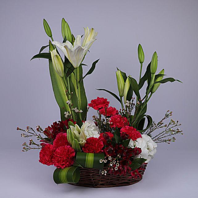 Floral Basket Of Elegance