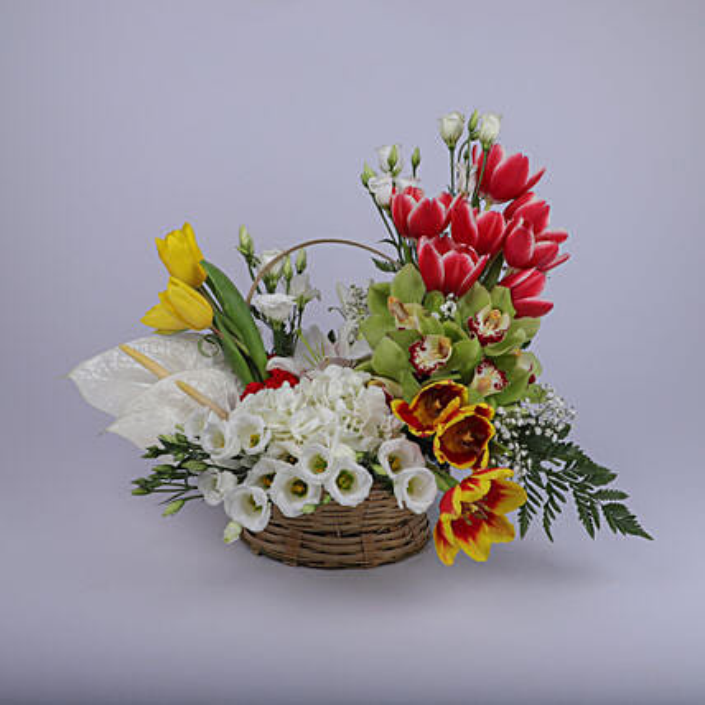 Gleaming Floral Basket