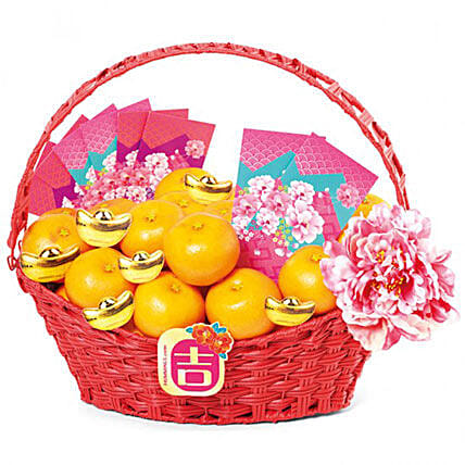 Basket Of Mandarin Oranges
