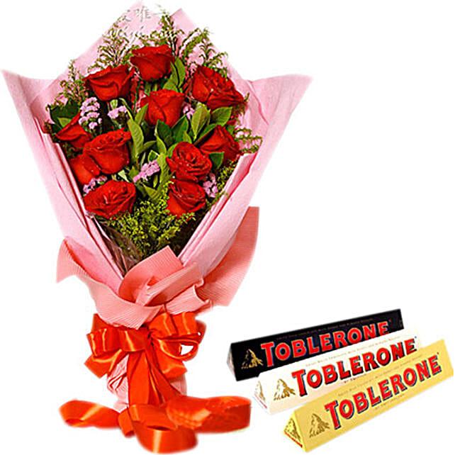 Be My Valentine Combo:Send Birthday Flowers to Philippines