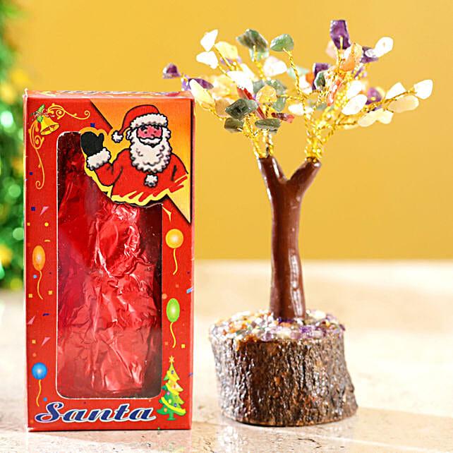 Colourful Stone Wish Tree & Choco Swiss Santa:Send Chocolate to Philippines
