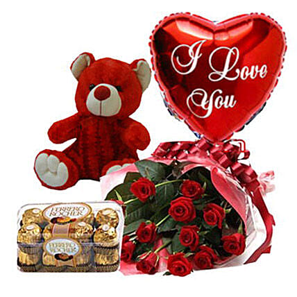 Cute Gesture Of Love Combo:Send Rose Day Gifts to Philippines
