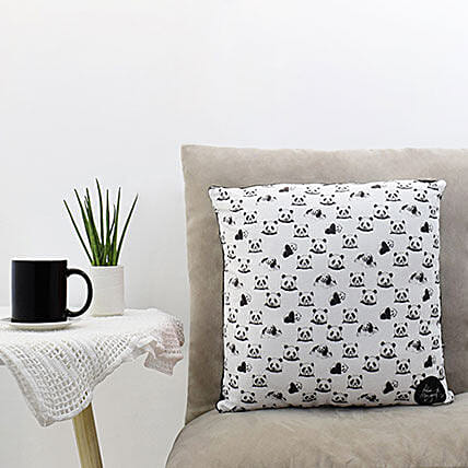 Cute Panda Printed Square Pillow