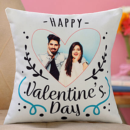valentine day printed cushion for her