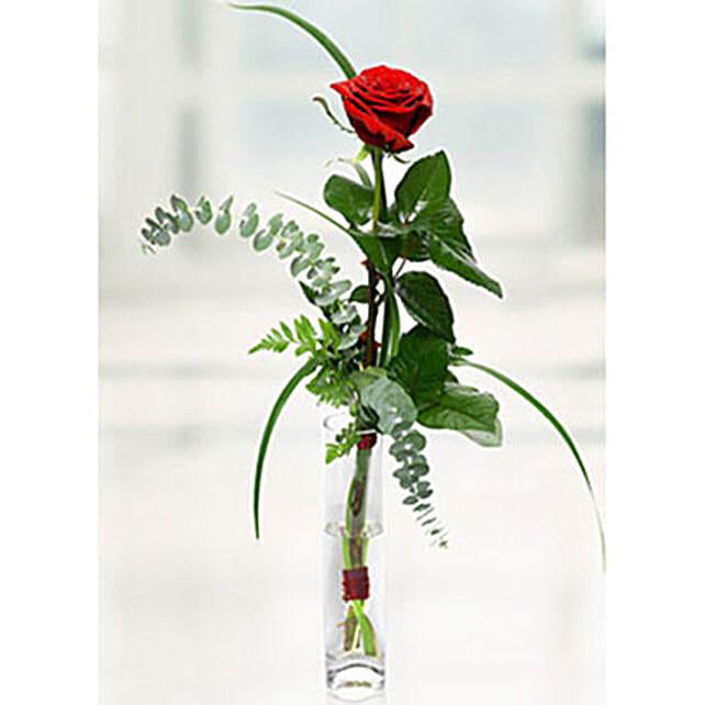 Imported Rose In Vase