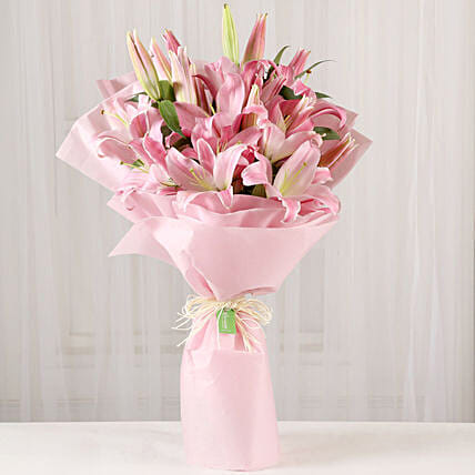 Passionate Oriental Pink Lilies