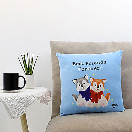 Paw Friends Forever Printed Cushion