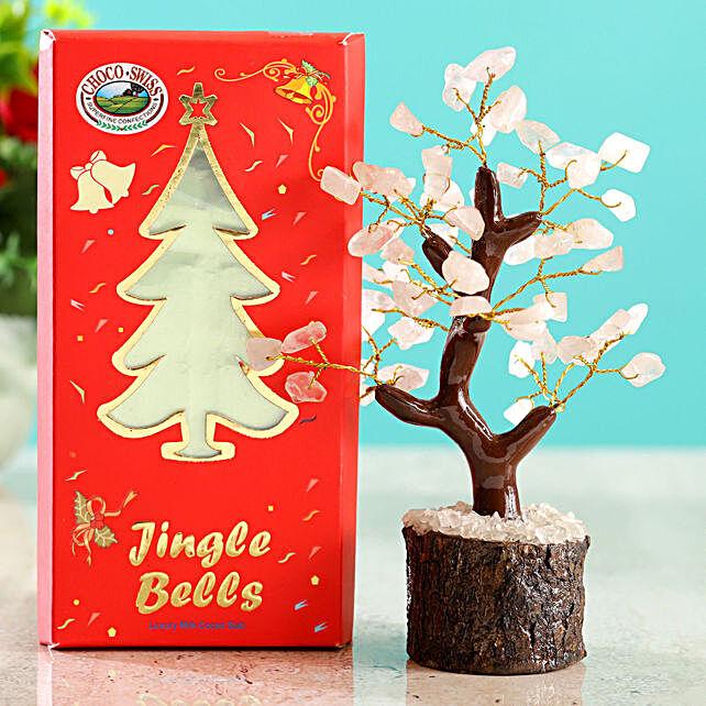 Rose Quartz Wish Tree & Choco Swiss Jingle Bells
