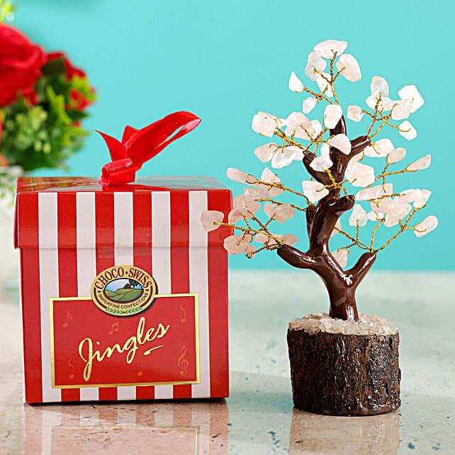 Rose Quartz Wish Tree & Choco Swiss Jingles Box