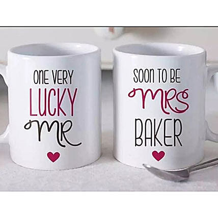 Set Of 2 Beautiful Personalized Mugs