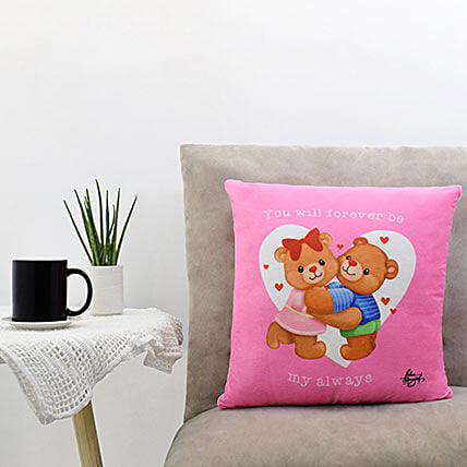 Sweet Embrace Pink Pillow:Personalised Gifts to Philippines