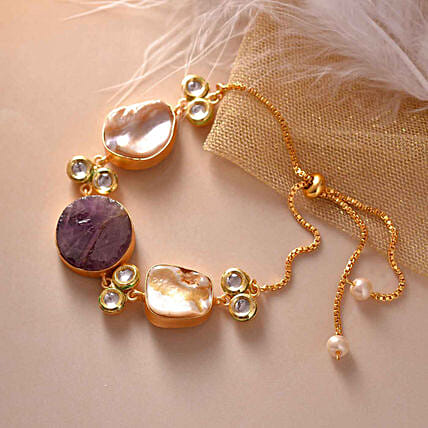 Baroque Pearl Tumble Shaped Bracelet:Karwa Chauth Gifts Philippines
