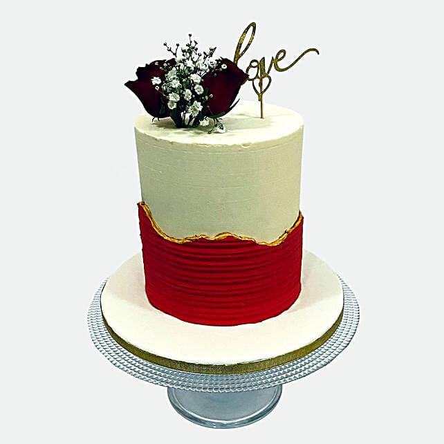 Delightful Love Cake:Birthday Cake Delivery in Qatar