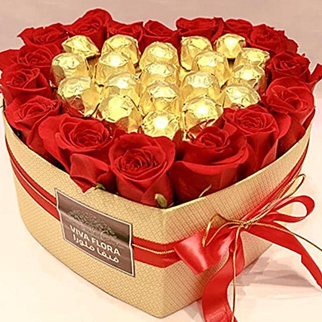Hearty Choco Roses