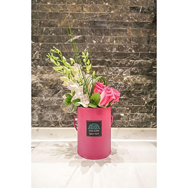 Joyful Pink Box Floral Arrangement