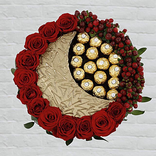 Eid special floral n chocolate arrangement online