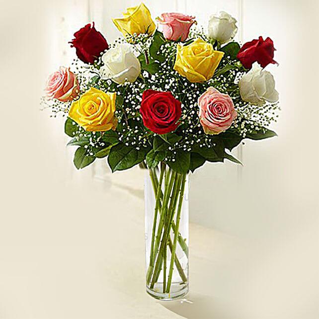 colourful rose vase online