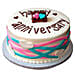 Colorful Anniversary Fondant Cake Chocolate 4kg Eggless