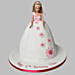 Pristine White Barbie Cake 3Kg Chocolate