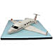 White Airplane Cake 2Kg Butterscotch