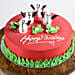 Decorated Snowman Chocolate Cake- 1 Kg