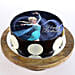 Elsa Chocolate Photo Cake- Half Kg