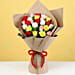 Bouquet of 24 Mixed Roses In Brown Paper