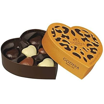 Godiva Heart Shaped Chocolate Box